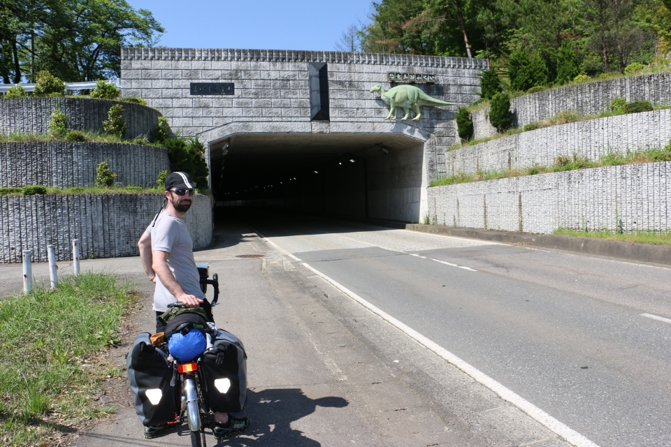 Cycle touring in Japan. Japanese mountain road tunnels.