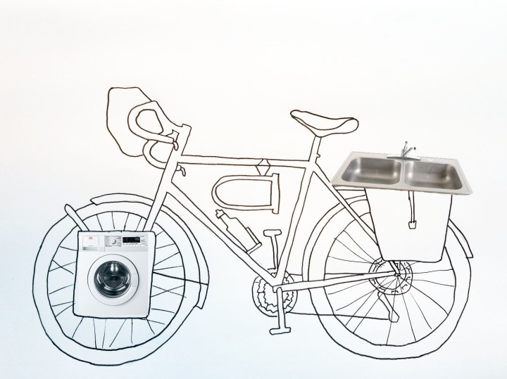 Touring bike kitchen sink 2