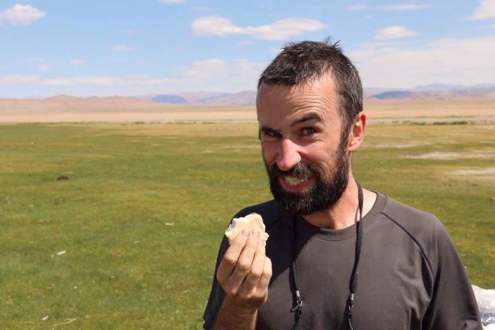 Mongolian Yak curd. Cycle tour of Mongolia | Crank and Cog.