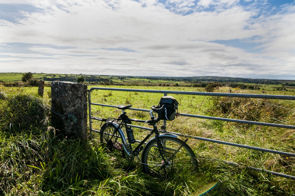 Bicycle on gate in county galway