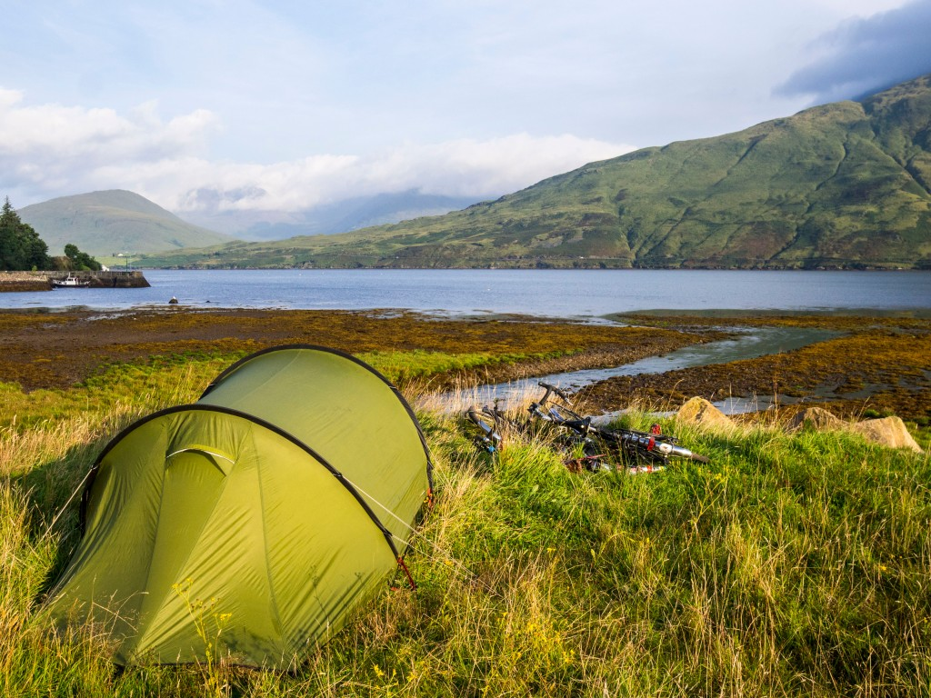 camping in Connemara. Cycle touring in Ireland.