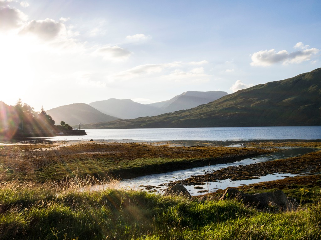 Connemara sunset. Cycle touring Ireland.