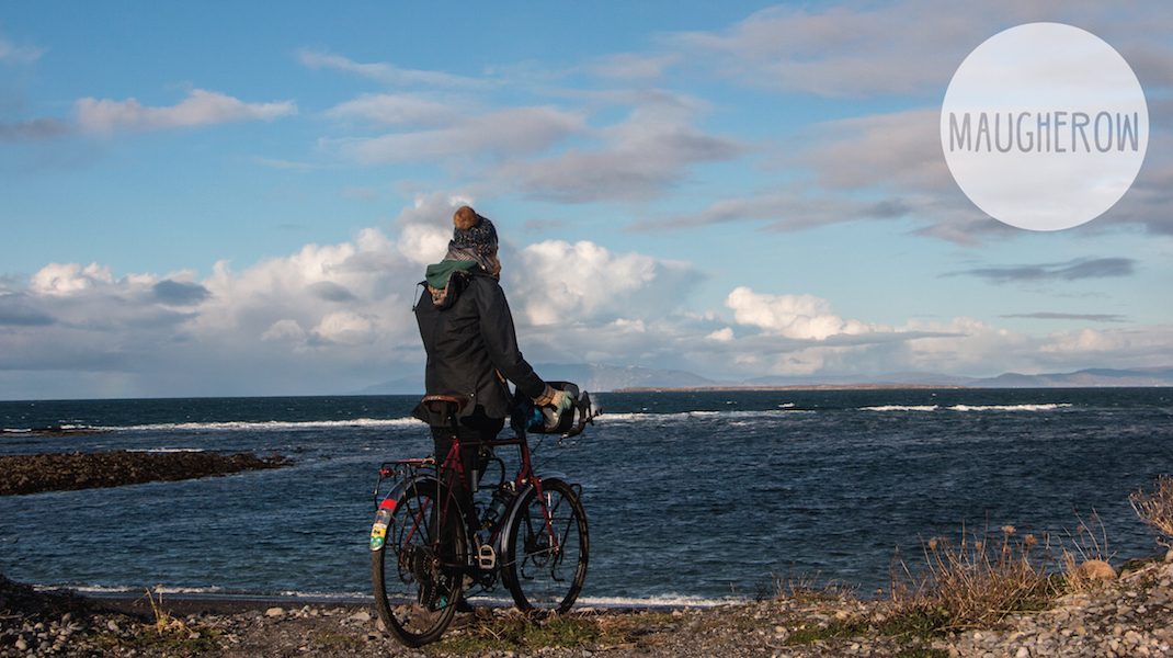 One day cycle trip, ireland. Watching the Atlantic waves.