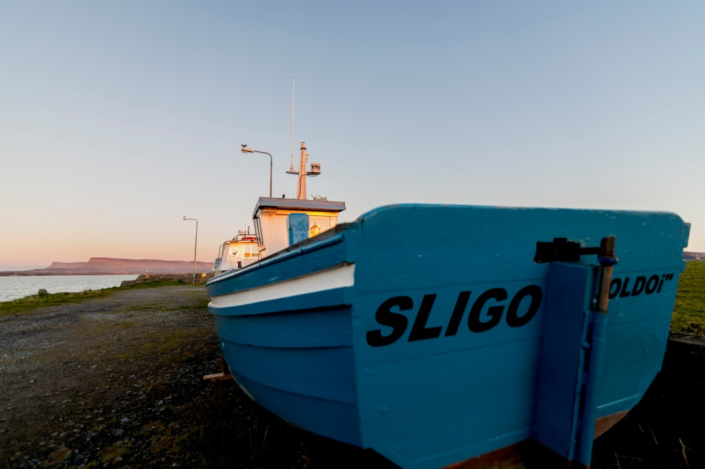 Sligo boat. cycling the wild Atlantic way