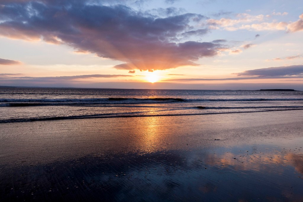 Sunset over Yellow strand, Sligo, Ireland