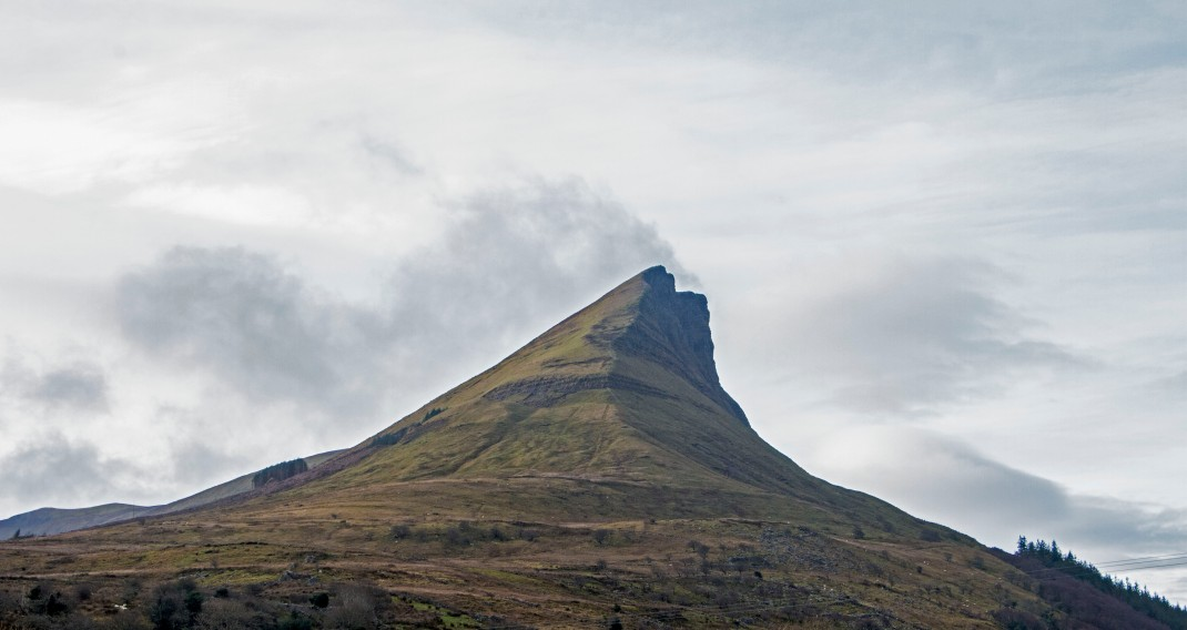 benwisken mountain in Gleniff, County Sligo, Ireland | Crank and Cog one day cycle loops in Ireland. Local Loops.