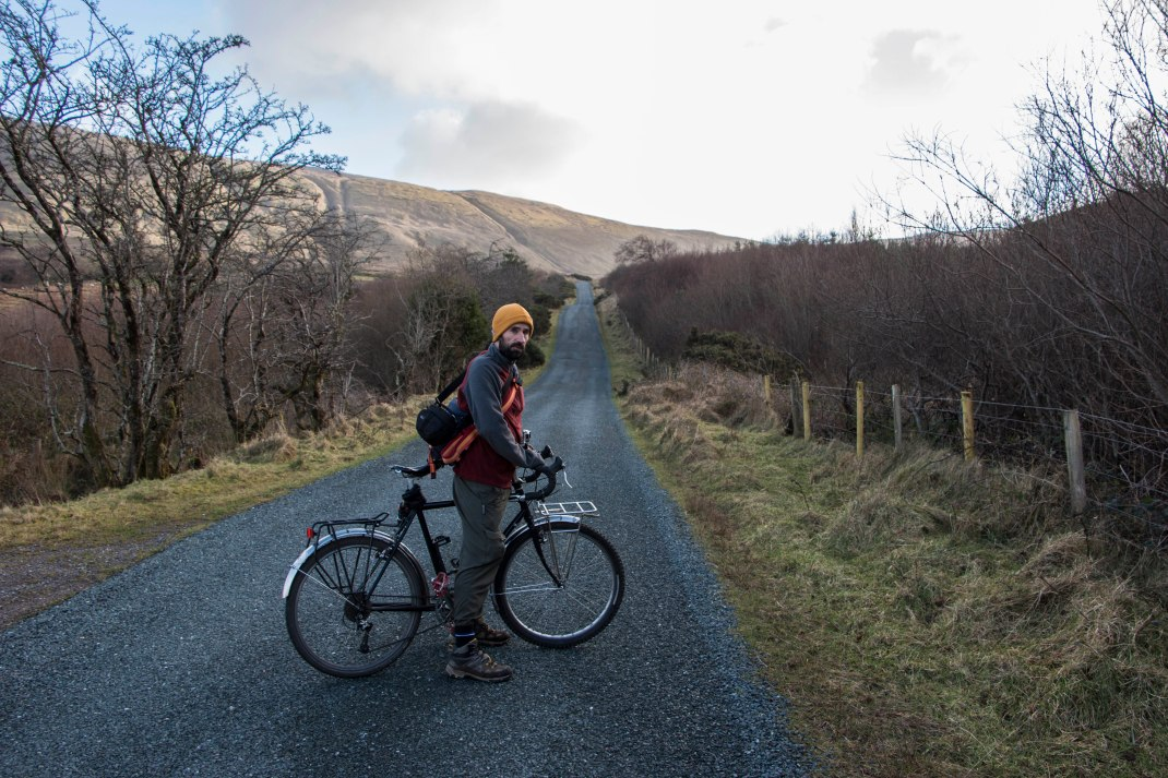Ciaran cycling the magic road at Gleniff, County Sligo, Ireland | Crank and Cog one day cycle loops in Ireland. Local Loops.