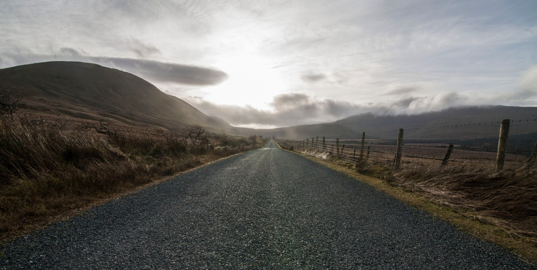 Road in Gleniff, County Sligo, Ireland | Crank and Cog one day cycle loops in Ireland. Local Loops.
