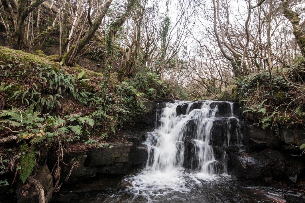 Waterfall in Gleniff, County Sligo, Ireland | Crank and Cog one day cycle loops in Ireland. Local Loops.