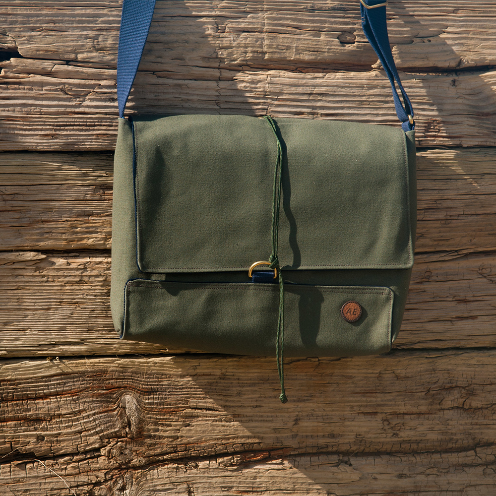 AE Atlantic Equipment satchel moss green wild atlantic way sligo ireland crank and cog