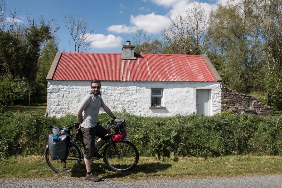 A traditional Irish cottage along the foothills of the Ox Mountains, Sligo, Ireland.