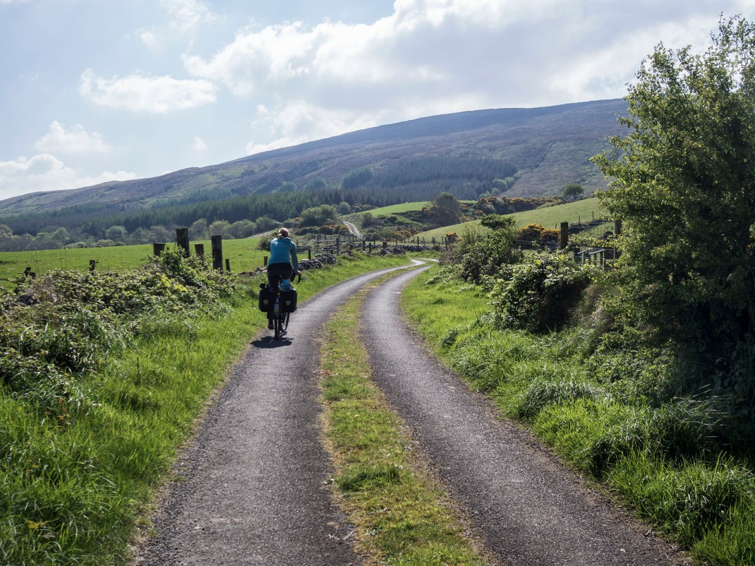 Bike-packing through the Ox Mountains, Sligo, Ireland.