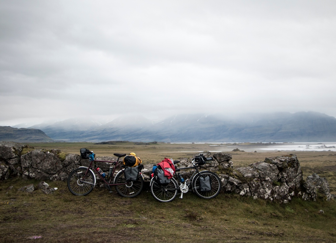 taking a break on the eastern Iceland fjords | Crank and Cog cycle tour of Iceland.