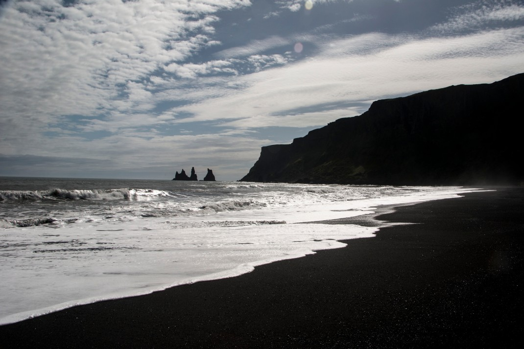 Black sand beach in Vic, Iceland | Crank & Cog cycle tour of Iceland.
