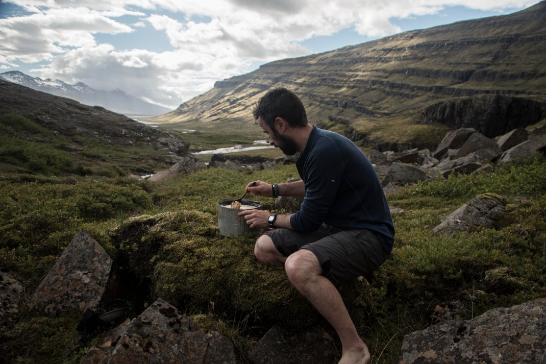 Cooking breakfast in the wild | Crank & Cog cycle tour of Iceland.