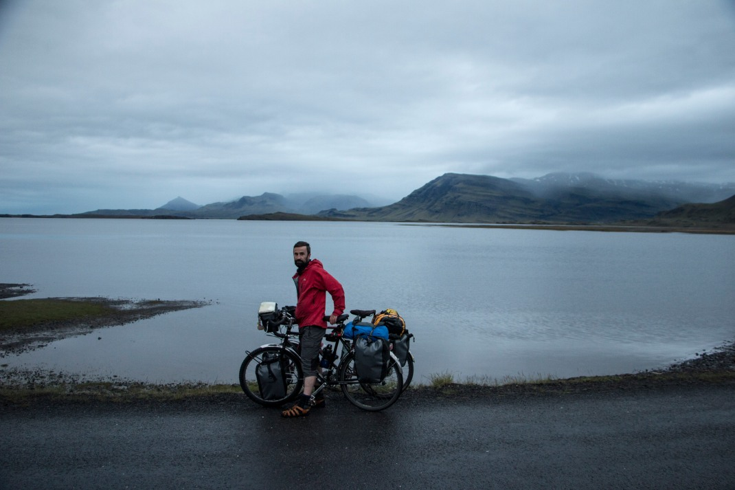 Ciaran by the fjords | Crank & Cog cycle tour of Iceland.