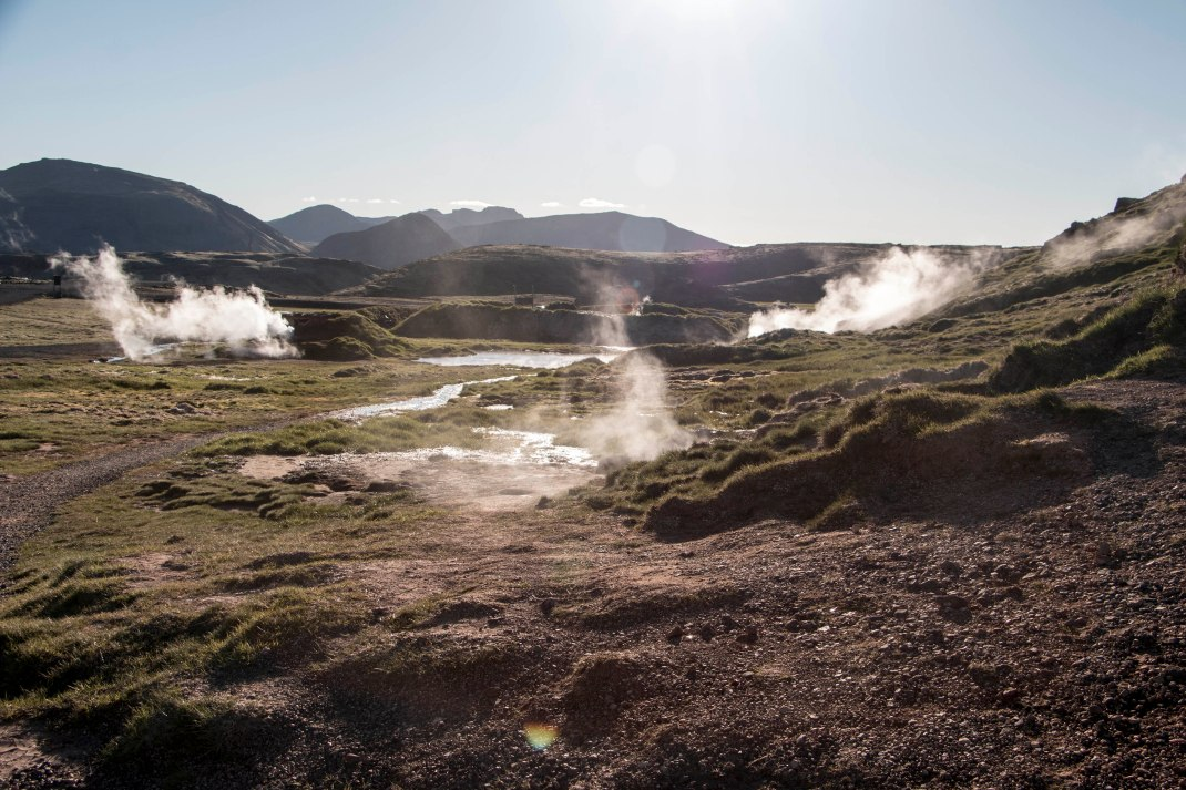 Natural hot mud baths in Iceland | Crank & Cog cycle tour of Iceland.