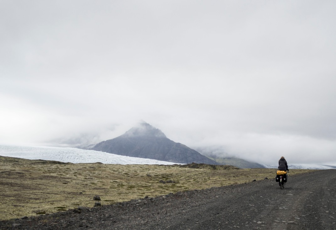 Cycling by glaciers | Crank & Cog cycle tour of Iceland.