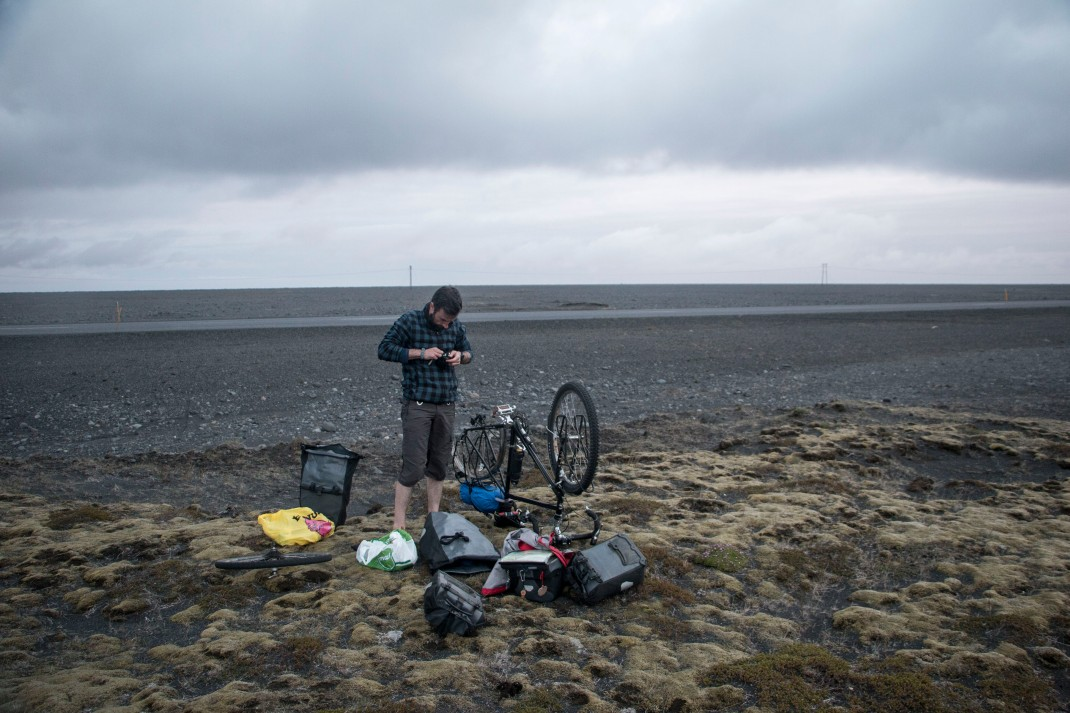 Fixing a puncture in Iceland | Crank & Cog cycle tour of Iceland.