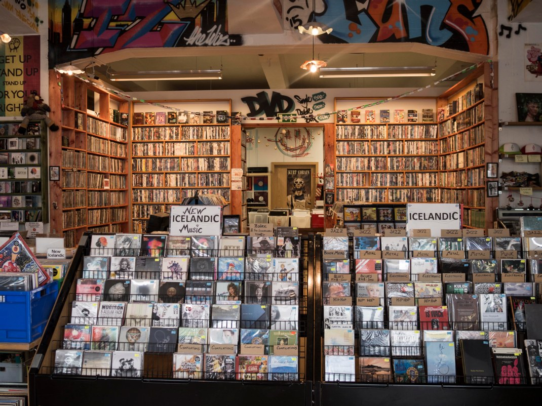 Icelandic music store | Crank & Cog cycle tour of Iceland.
