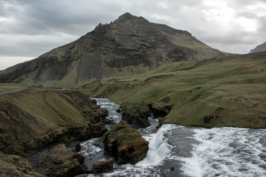Icelandic river and mountain | Crank & Cog cycle tour of Iceland.
