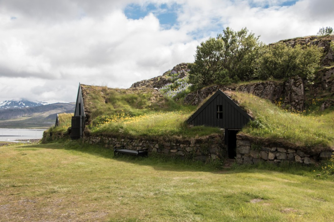 Grass roof sheds in Iceland | Crank and Cog cycle tour of Iceland.