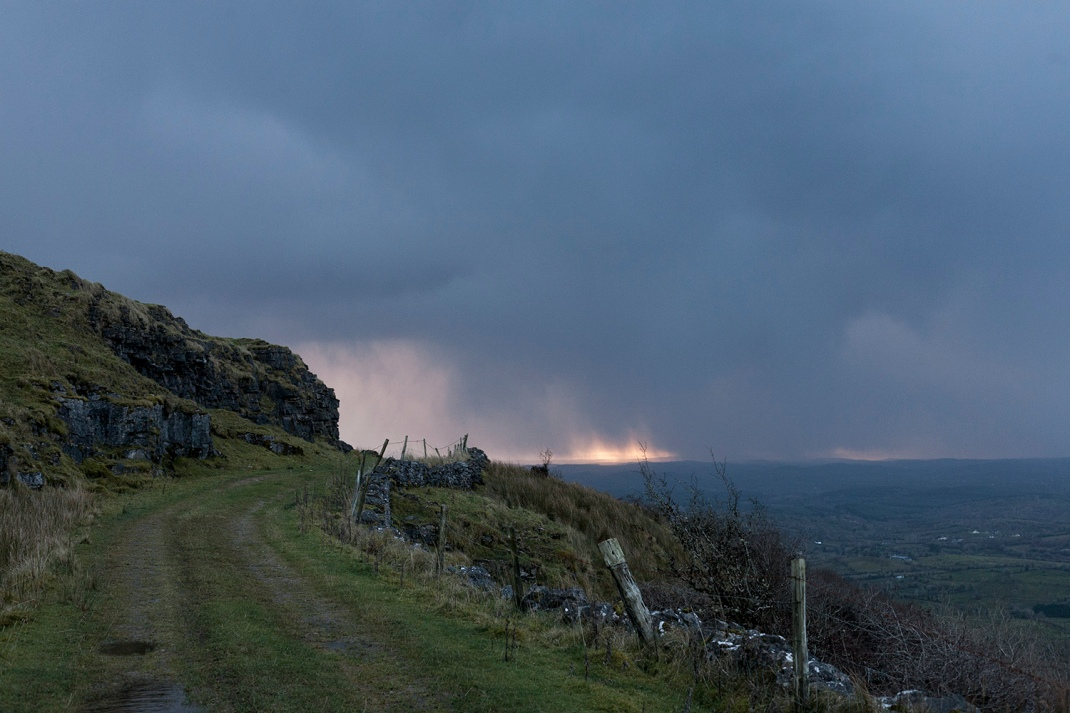Old track leading up O'Donnells Rock, Leitrim.
