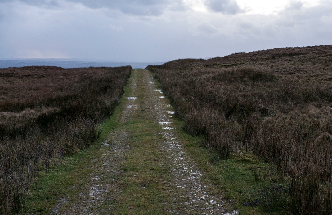 Old bog road on top of O'Donnells Rock, Leitrim.