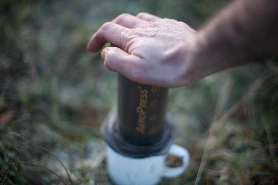Coffee C&C aeropress press